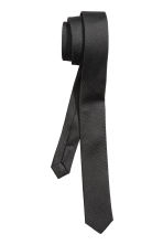Textured tie - Black - Men | H&M CN 2